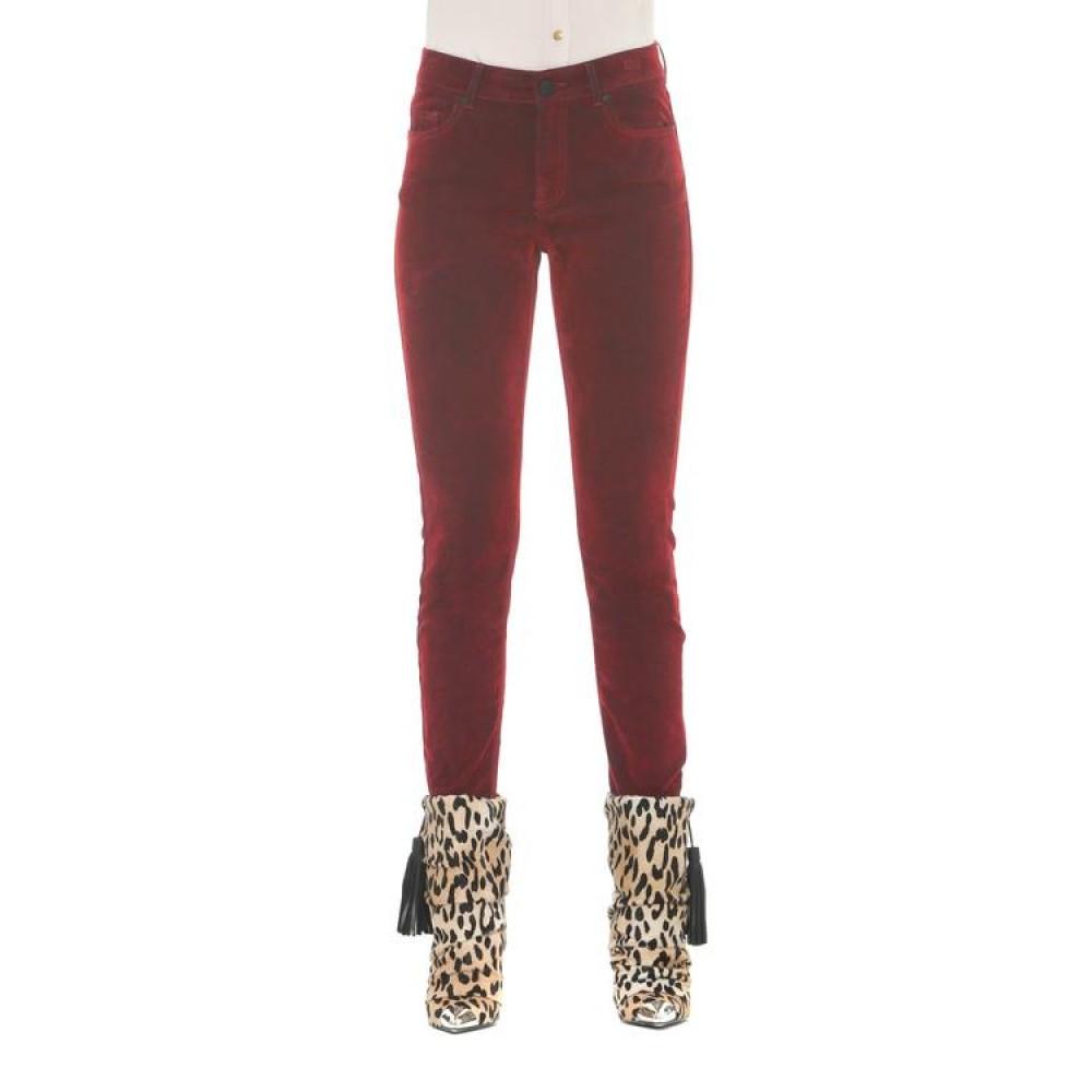 Silvian Heach women's trousers CVA19362JE burgundy