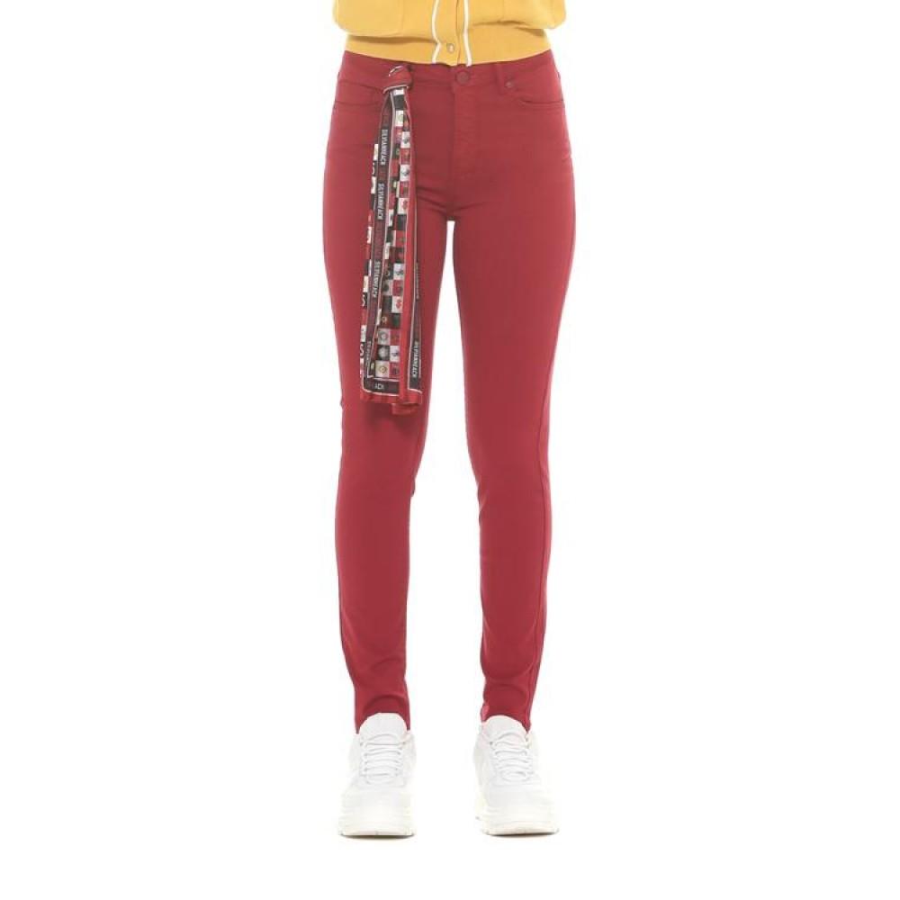 Silvian Heach women's trousers CVA19363JE burgundy