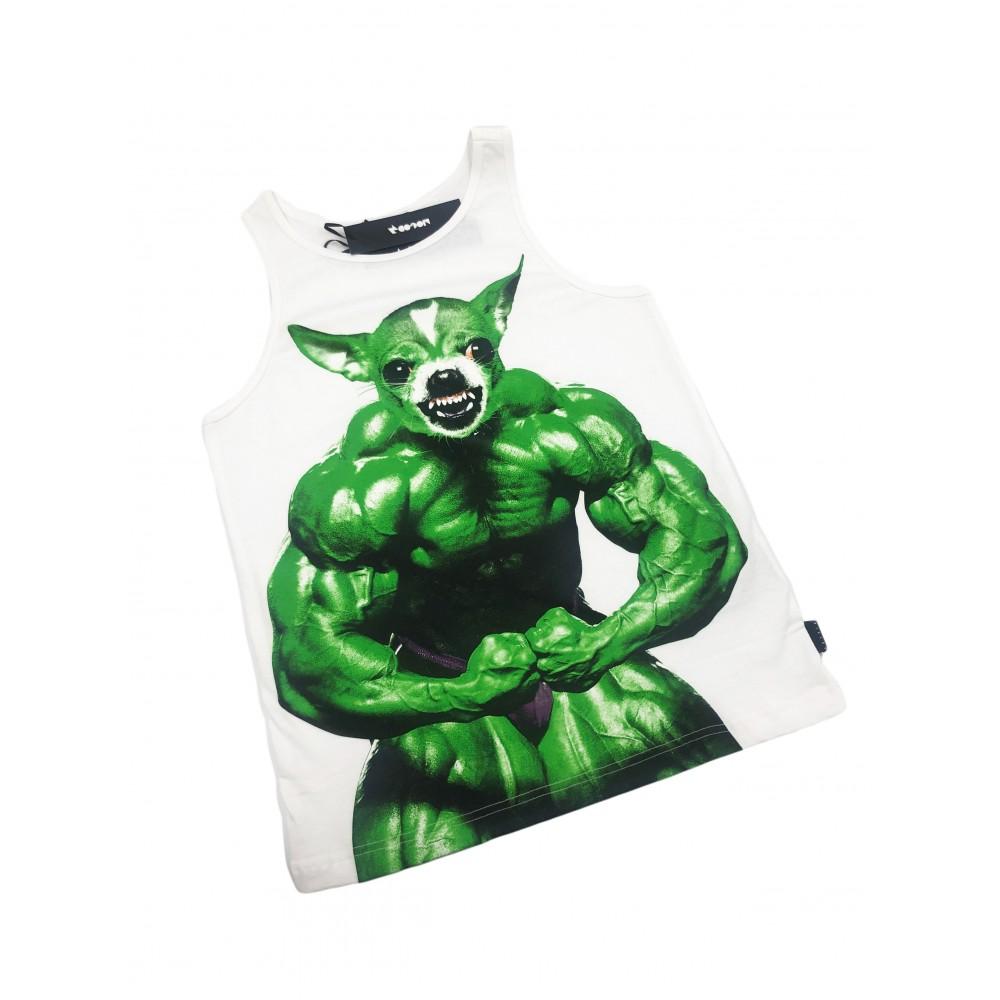 Sisley men's t-shirt 3ABDO8050 SIS 00 101 white / green