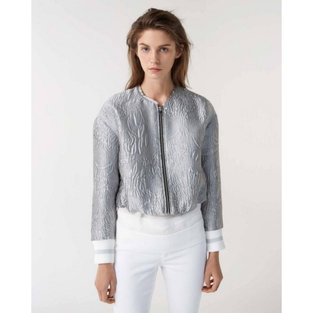 Sisley women's jacket 2yn5535o6 901 silver color