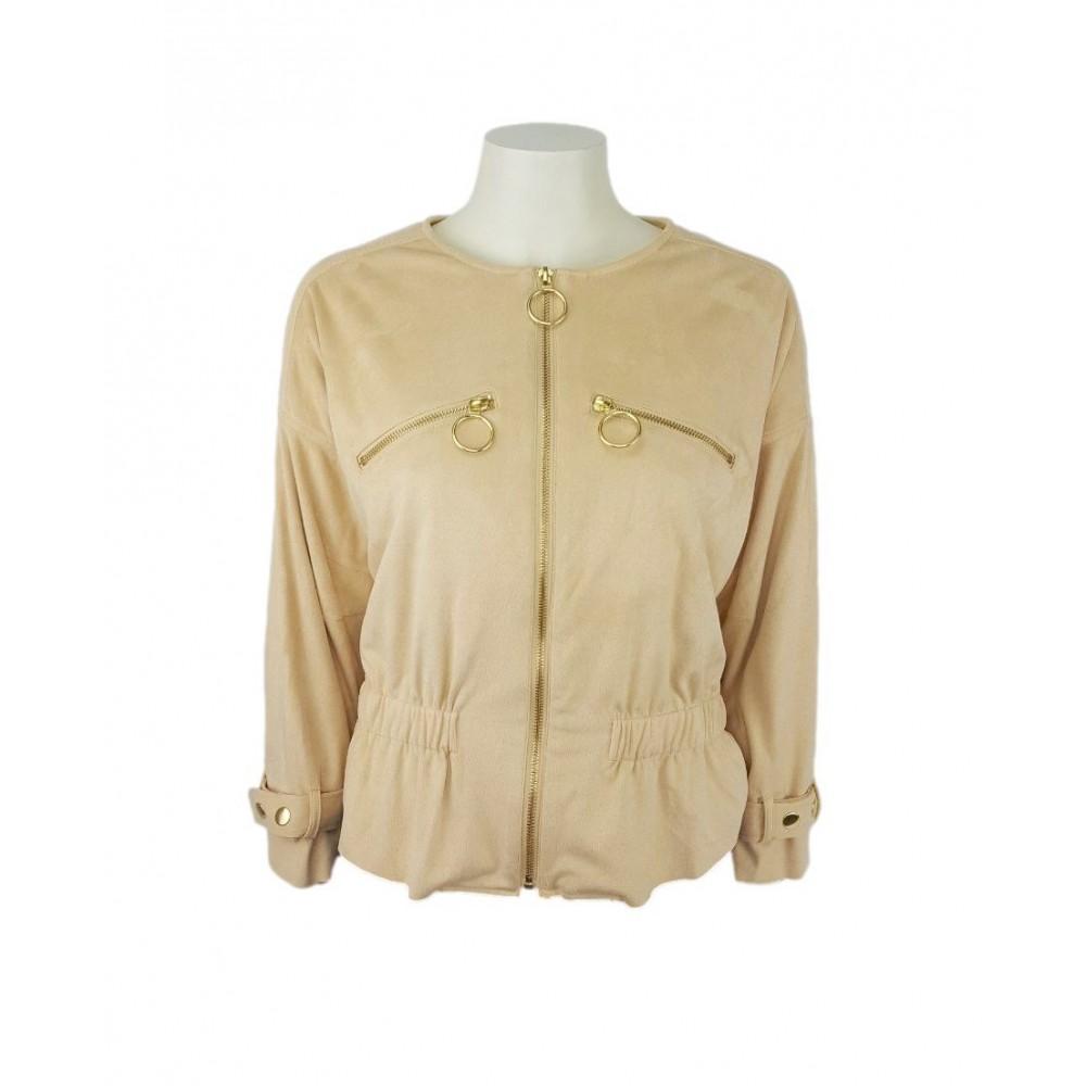Sisley women's jacket 2dzt536m7 3l2 cream color