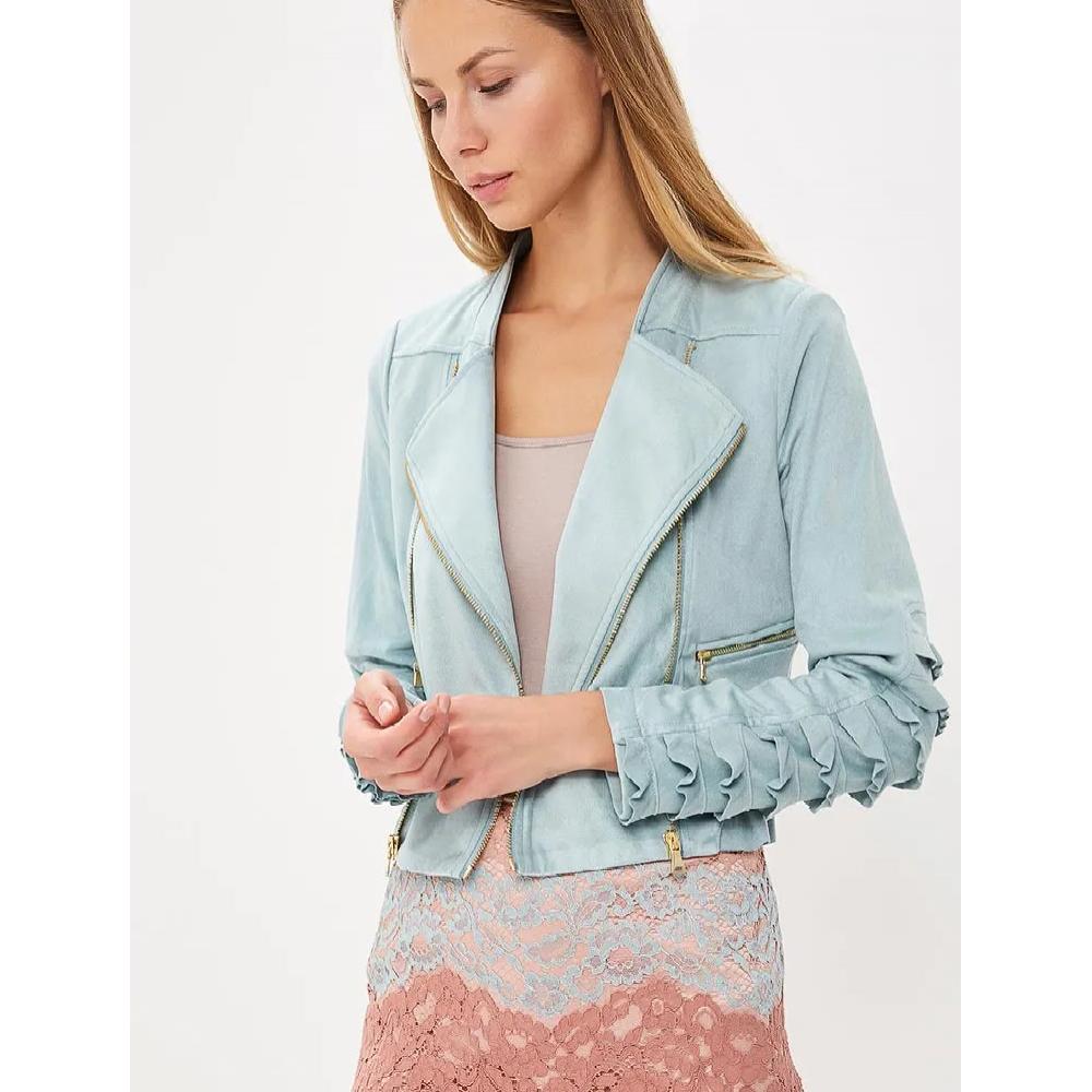Sisley women's jacket 2dzt535s7 2h1 mint color