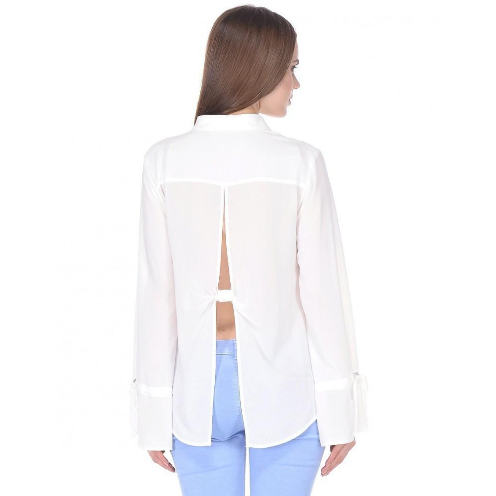 Sisley women's shirt white color 5vy95q976 074
