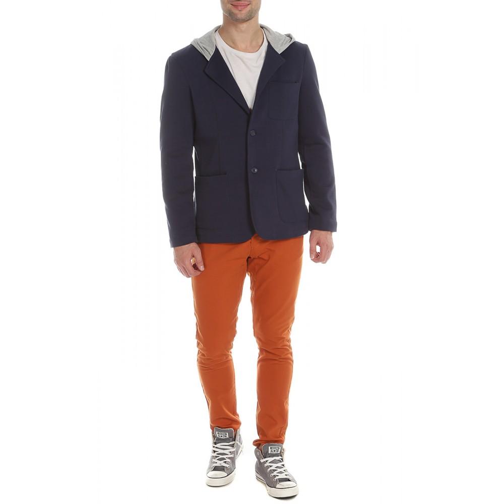 The DryWash Top Secret Men's Cotton Blazer, Dark Blue Color