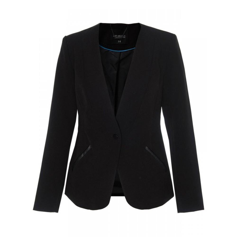 Top secret women's blazer black color slim fit