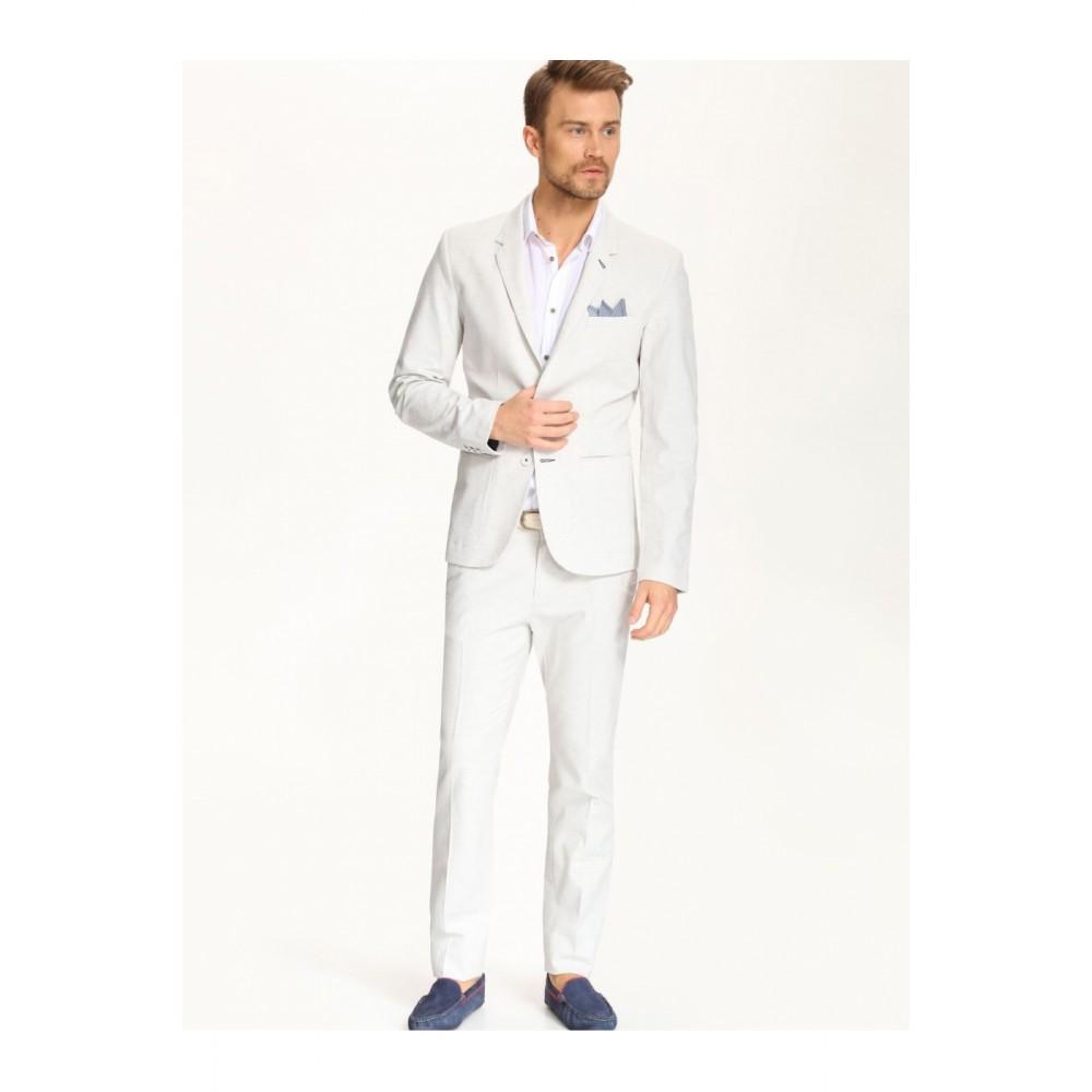 Top Secret Men's Linen Blazer, Light Brown Linen Color