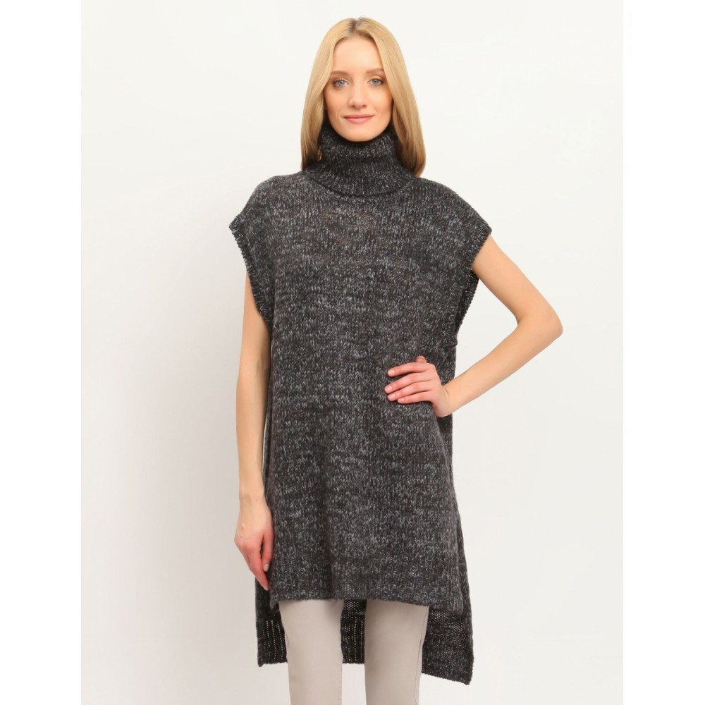 Troll Top Secret women's sweater, dark gray color, with an extended neck