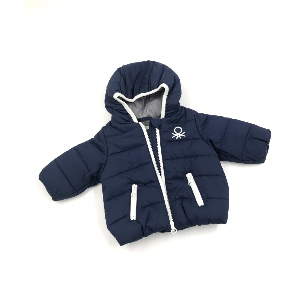 United Colors of Benetton kids jacket, navy blue color