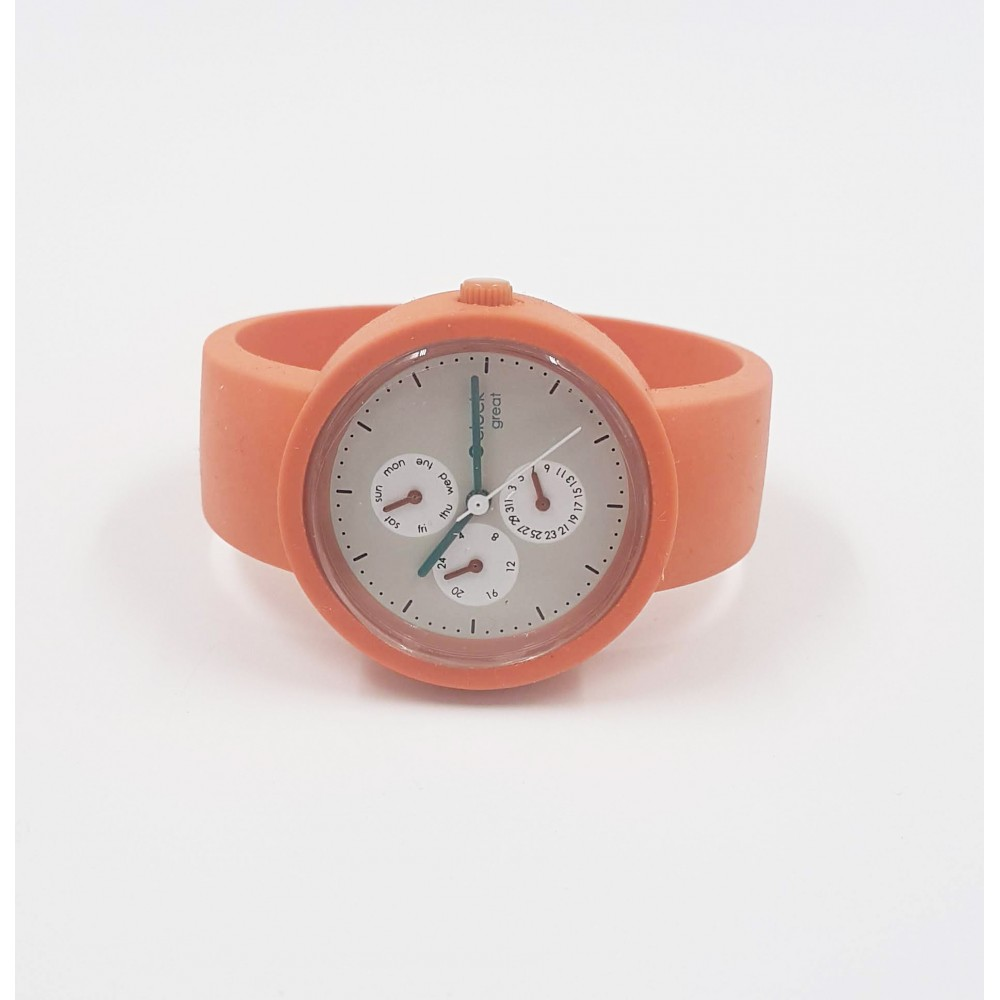Obag Watch oclock great 163 Coral color
