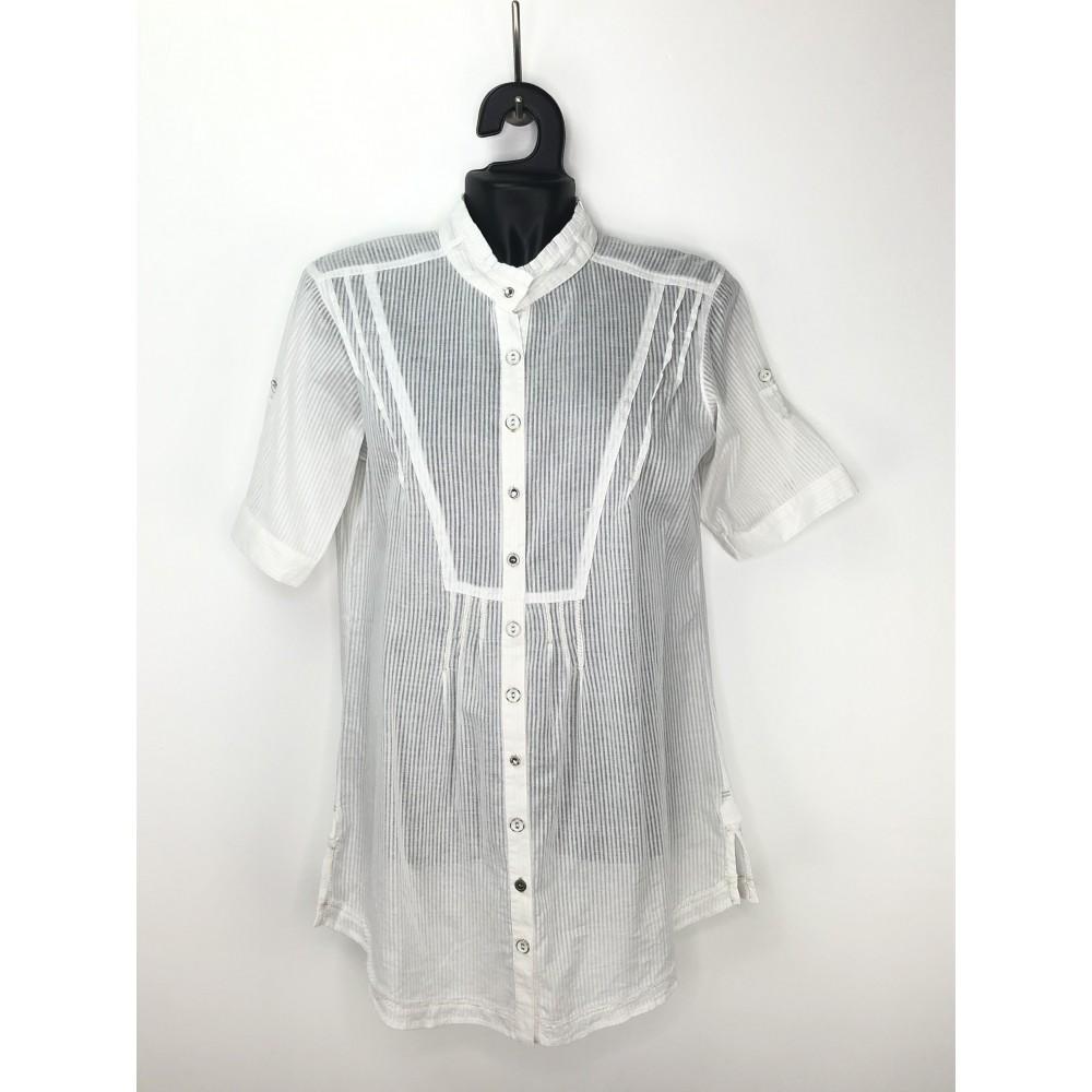 Zelia white color short sleeves shirt