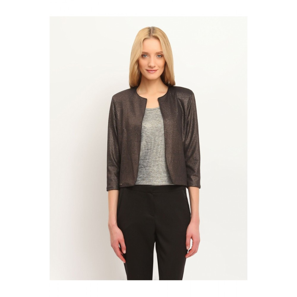 Top secret women's jacket bronze color without clasp three-quarter sleeves